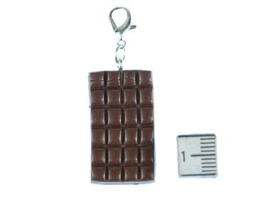 Chocolate Charm Zipper Pull Pendant For Bracelet  Wristlet Miniblings Chocolate Bar Brown – Bild 2