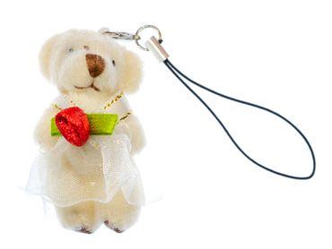 2x Bär Handyanhänger Miniblings Brautpaar Hochzeit Braut Bräutigam Ehe Teddy weiß – Bild 3
