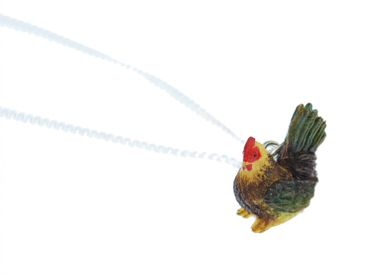 Chicken Necklace Miniblings Hen Farm Animal Bird Gockel Colorful 60cm – Bild 4
