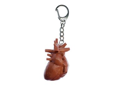 Heart Key NecklaceKey Ring Miniblings Necklace Key Ring Organ Human Anatomy – Bild 1
