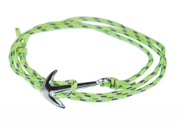 Anchor Bracelet Wristlet Dangle Miniblings Pendant Rope Climbers Rope Patterned Neon Green – Bild 1