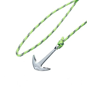 Anchor Bracelet Wristlet Dangle Miniblings Pendant Rope Climbers Rope Patterned Neon Green – Bild 3