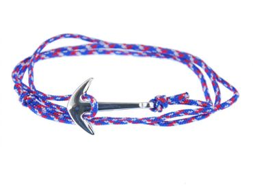 Anchor Bracelet Wristlet Dangle Miniblings Pendant Rope Climbers Rope Patterned Blue Red – Bild 1