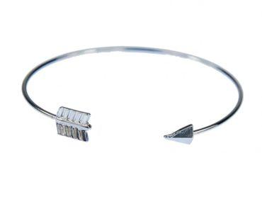 Pfeil Armreifen Armband Miniblings Armreif Indianer Pfeilspitze Silber Metall – Bild 1