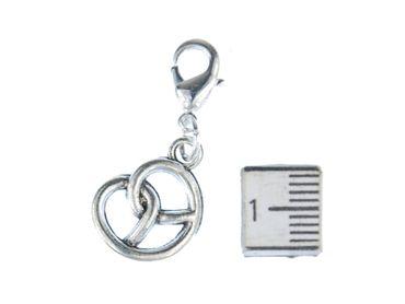 Pretzel Oktoberfest Charm Zipper Pull Pendant For Bracelet  Wristlet Miniblings Silver – Bild 2
