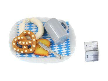 Oktoberfest Teller Brosche Miniblings Essen Wiesn Bier Brezel Wurst Toast Messer – Bild 4