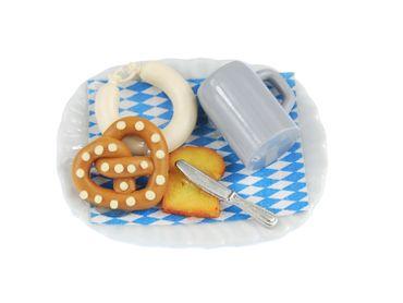 Oktoberfest Plate Brooch Miniblings Food Oktoberfest Pretzel Sausage Toast Knife – Bild 5