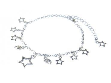 Sun Moon Stars Anklet Miniblings Pendant Silver Star – Bild 2