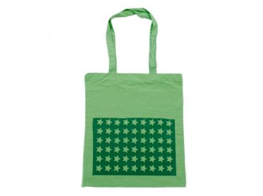 Cotton Carrier Bag Jute Bag Shopper Miniblings Green Star Green Star – Bild 1