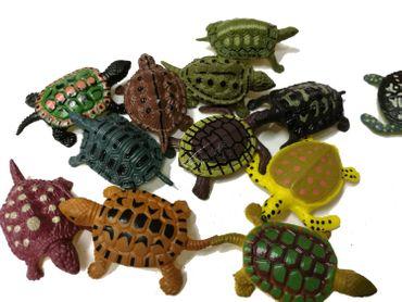 Set Of 11 Turtle Animal Figure Miniblings Rubber Reptile Turtle – Bild 2