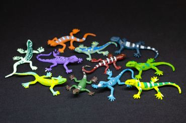 Set Of 4 Salamander Animal Figure Miniblings Toy Figures Figurines Gecko – Bild 2