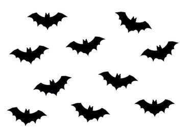 10X Patch Hotfix Iron On Motif Miniblings 35mm Velvety Flock Vampire Bat – Bild 3