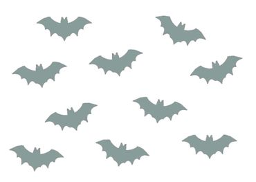 10X Patch Hotfix Iron On Motif Miniblings 35mm Velvety Flock Vampire Bat – Bild 4