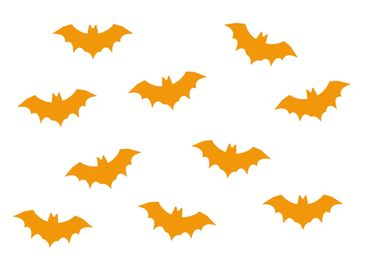 10X Patch Hotfix Iron On Motif Miniblings 35mm Velvety Flock Vampire Bat – Bild 9