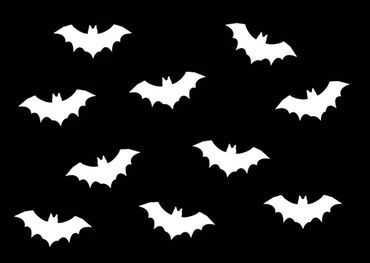 10X Patch Hotfix Iron On Motif Miniblings 35mm Glossy Gloss Vampire Bat – Bild 2