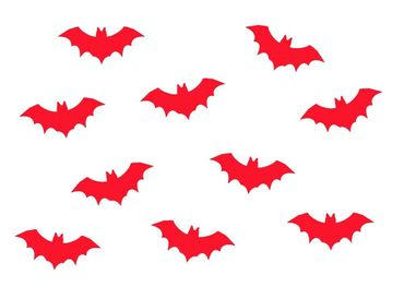 10X Patch Hotfix Iron On Motif Miniblings 35mm Glossy Gloss Vampire Bat – Bild 4