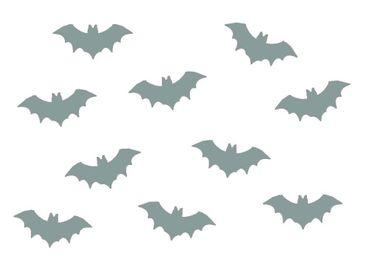 10x Bügelbild Bügelbilder Aufnäher Patch Miniblings 35mm GLATT Fledermaus Vampir – Bild 3