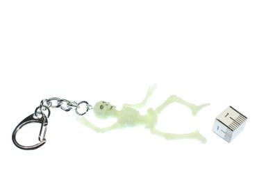 Luminous Skeleton Key Ring Miniblings Key Chain Ring Death – Bild 3