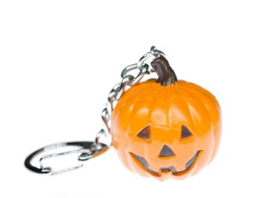 Halloween Pumpkin Key Chain Key Ring Miniblings Necklace Key Ring Creepy – Bild 1