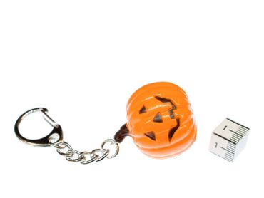 Halloween Pumpkin Key NecklaceKey Ring Miniblings Necklace Key Ring Creepy – Bild 2