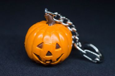 Halloween Pumpkin Key NecklaceKey Ring Miniblings Necklace Key Ring Creepy – Bild 3