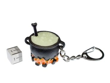 Glowing Witch Cauldron Key Ring Miniblings Key Chain Ring Witch – Bild 2