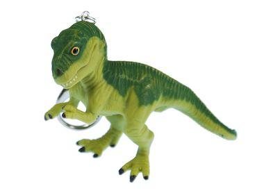 T-Rex Key Chain Key Ring Miniblings Tyrannosaurus Dinosaur Dino Green XL – Bild 1