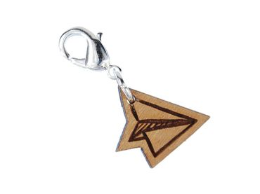 Charm Zipper Pull Paper Airplane Pendant Miniblings Flieger Airplane Wooden S – Bild 1