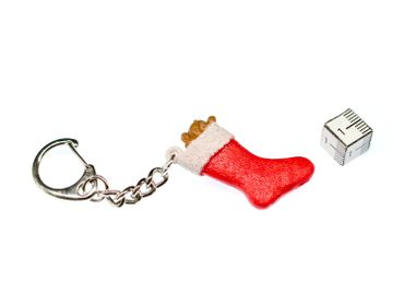 Christmas Stocking Key Chain Key Ring Miniblings Necklace Key Ring Sock X-Mas – Bild 2