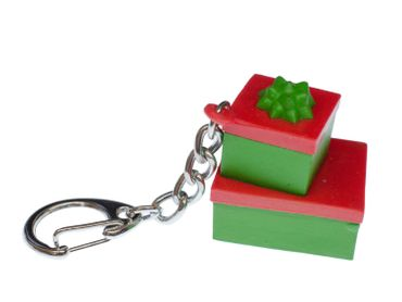 Gift Boxes Key Chain Key Ring Miniblings Pendant X-Mas Christmas Packages – Bild 1