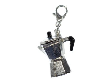 Espresso Kanne Charm Zipper Pull Anhänger Miniblings Kaffee Kanne handgemacht – Bild 1