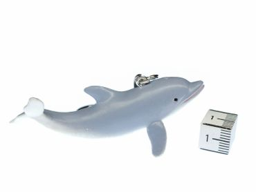 Dolphin Key Chain Key Ring Miniblings Necklace Key Ring Flipper Light Gray – Bild 2