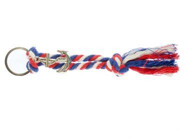 Anchor Rope Key NecklaceKey Ring Miniblings Necklace Key Ring Maritim Silver – Bild 1