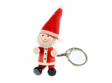 Weihnachtsmann Schlüsselanhänger Miniblings Anhänger Schlüsselring Nikolaus rot – Bild 1