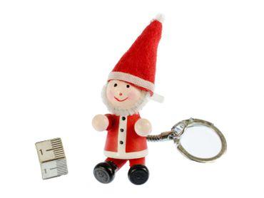 Weihnachtsmann Schlüsselanhänger Miniblings Anhänger Schlüsselring Nikolaus rot – Bild 2