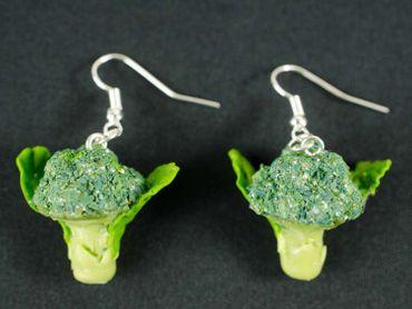Broccoli Earrings Miniblings Veggie Vegetarian Vegetable Cabbage Green – Bild 1