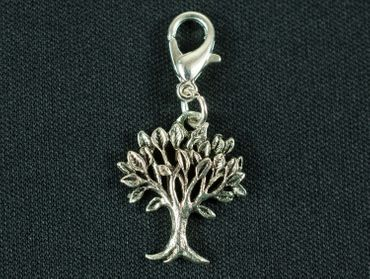 Tree Leaves Charm For Bracelet Wristlet Dangle Miniblings Filigree Deciduous Tree Silver – Bild 2