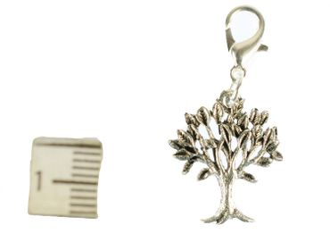 Tree Leaves Charm For Bracelet Wristlet Dangle Miniblings Filigree Deciduous Tree Silver – Bild 3