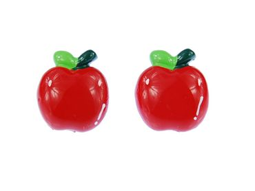 Apple Earrings Ear Studs Earstuds Miniblings Fruit Apple Fruit Shine – Bild 3