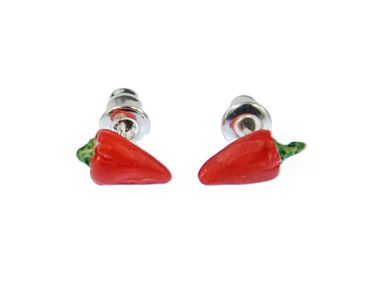 Chili Earrings Ear Studs Earstuds Miniblings Eating Peppers Chilli Spice Spicy – Bild 1