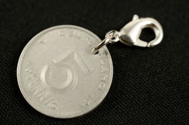5 GDR East Germany DDR Pfennig German Germany Charm For Bracelet  Wristlet Pendant Miniblings Coin Money Nostalgia Old – Bild 3