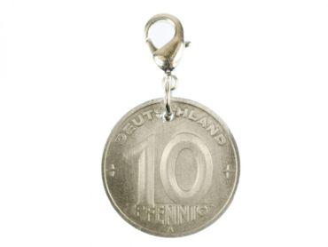 10 GDR East Germany DDR Pfennig German Germany Charm For Bracelet  Wristlet Pendant Miniblings Coin Wall Old – Bild 1