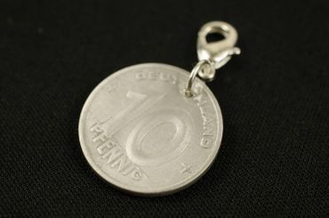 10 GDR East Germany DDR Pfennig German Germany Charm For Bracelet  Wristlet Pendant Miniblings Coin Wall Old – Bild 3