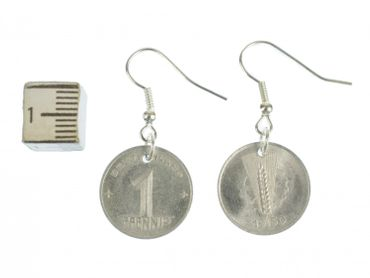1 GDR East Germany DDR Penny Coin Earrings Miniblings Coins Nostalgia Old Wall – Bild 2