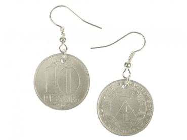 10 GDR East Germany DDR Penny Coin Earrings Miniblings Money Nostalgia Wall Again – Bild 1