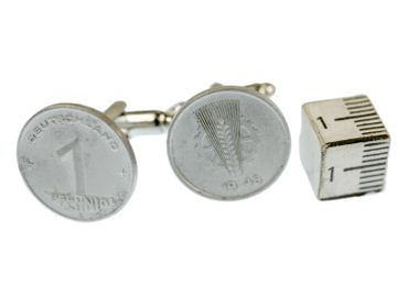 1 Pfennig German Germany GDR East Germany DDR Cuff Links Cufflinks Miniblings Nostalgia Coin Dime Old – Bild 4