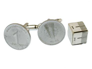 1 Pfennig DDR Manschettenknöpfe Miniblings Ostalgie Münzen Geld Groschen alt – Bild 4