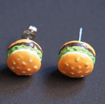 Hamburger Ohrstecker Miniblings Stecker Ohrringe Fast Food Cheeseburger Kawaii