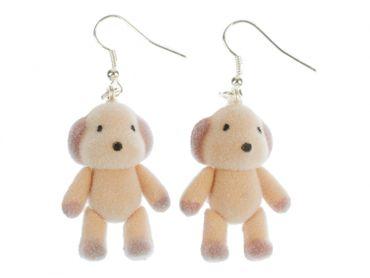 Dog Earrings Miniblings Plush Dog Teddy Pet Animal Velvety Flock Velvety Flock – Bild 1