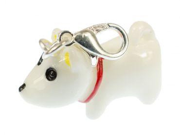 Hund Charm Zipper Anhänger Miniblings Hundefigur Kawaii Tier Terrier Halsband – Bild 1